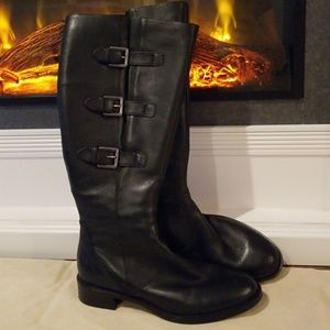 Ecco tall black Hobart boots size 9 (39)